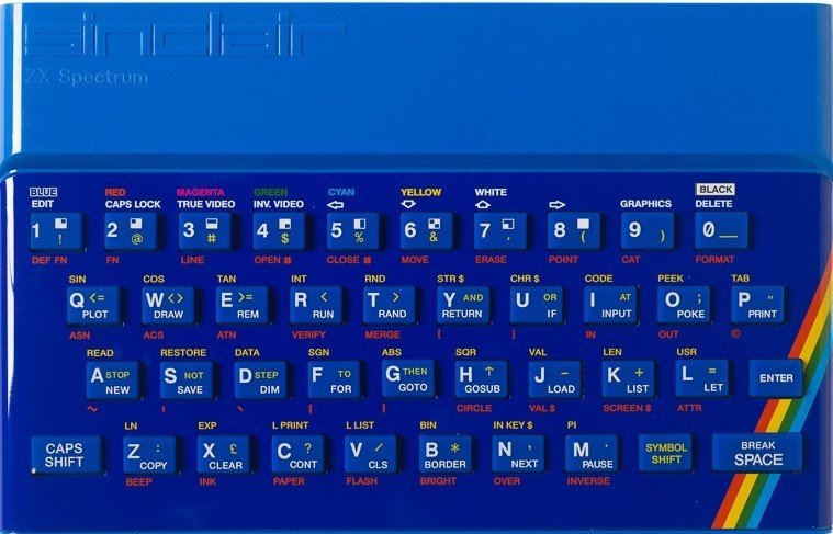 ZX SPECTRUM Replacement Case Blue