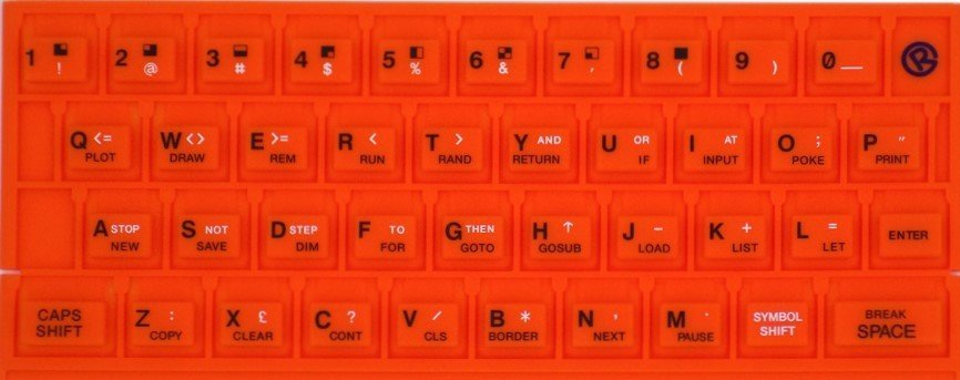 ZX SPECTRUM 16k/48k keyboard mat Orange
