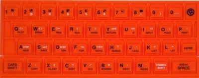 ZX SPECTRUM 16k/48k keyboard mat Orange
