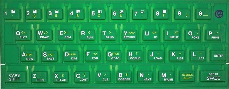 ZX SPECTRUM 16k/48k keyboard mat Green