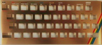 Zx Spectrum 16k/48k keyboard replica cover plate (faceplate) Gold