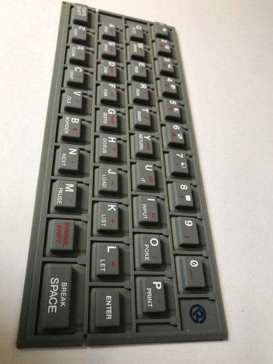 ZX SPECTRUM 16k/48k keyboard mat Standard (grey) Issue 1