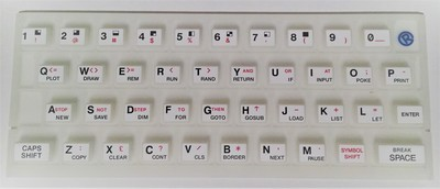 ZX SPECTRUM 16k/48k Fluorescent keyboard mat White