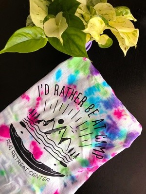 Custom Dyed I'd Rather Be At Camp T-shirt