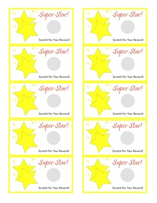Super Star Scratch off template