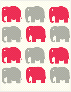 Elephant baby shower tags