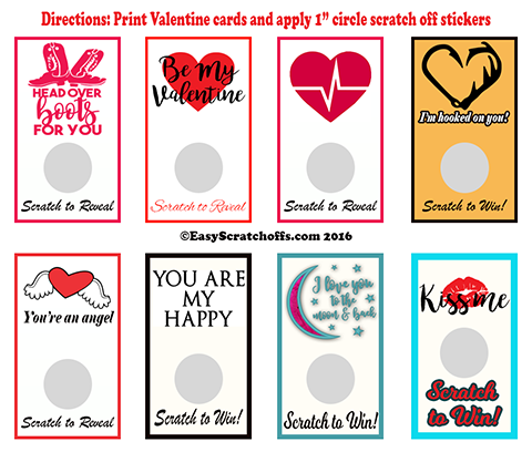 Valentine Scratch off Card bundle