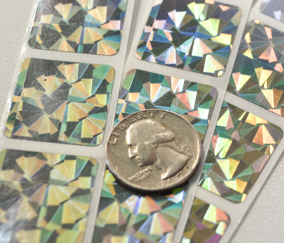 Hologram scratch off stickers