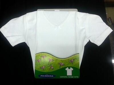 Camiseta niña Manga Corta Básica PRINCESA