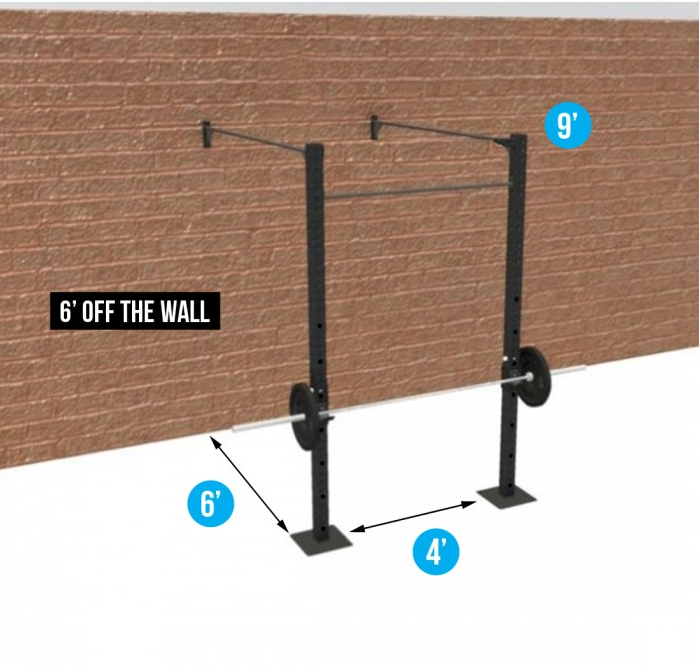 4' WALL-MOUNT BASIC (3 PULL-UP STATIONS & 1 RACKS)