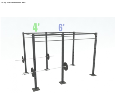 10' FREESTANDING BASIC DUAL-INDEPENDENT BARS
