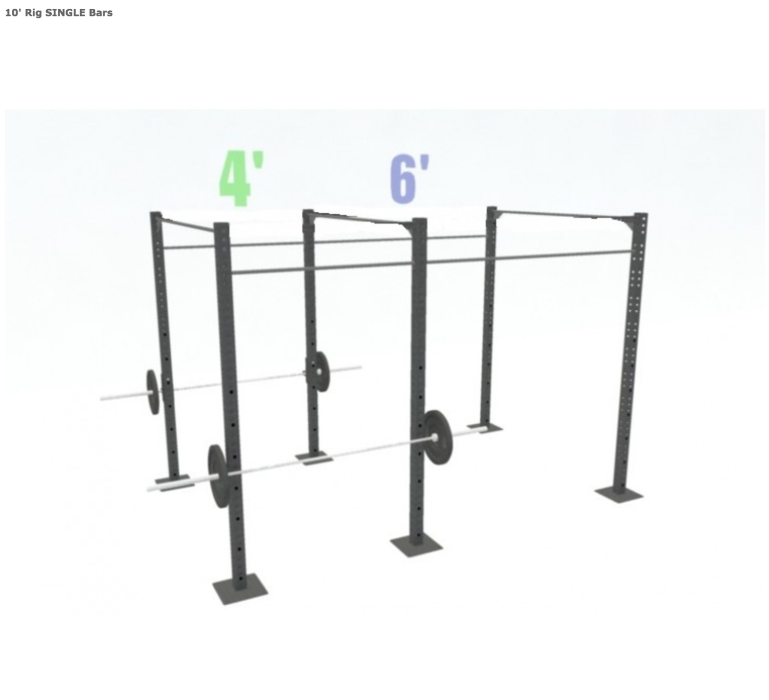 10' FREESTANDING BASIC SINGLE BARS