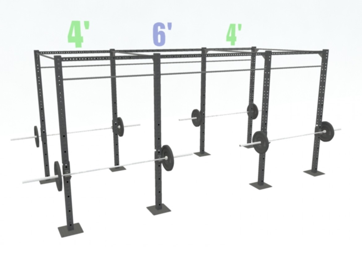 14' FREESTANDING BASIC DUAL-INDEPENDENT BARS