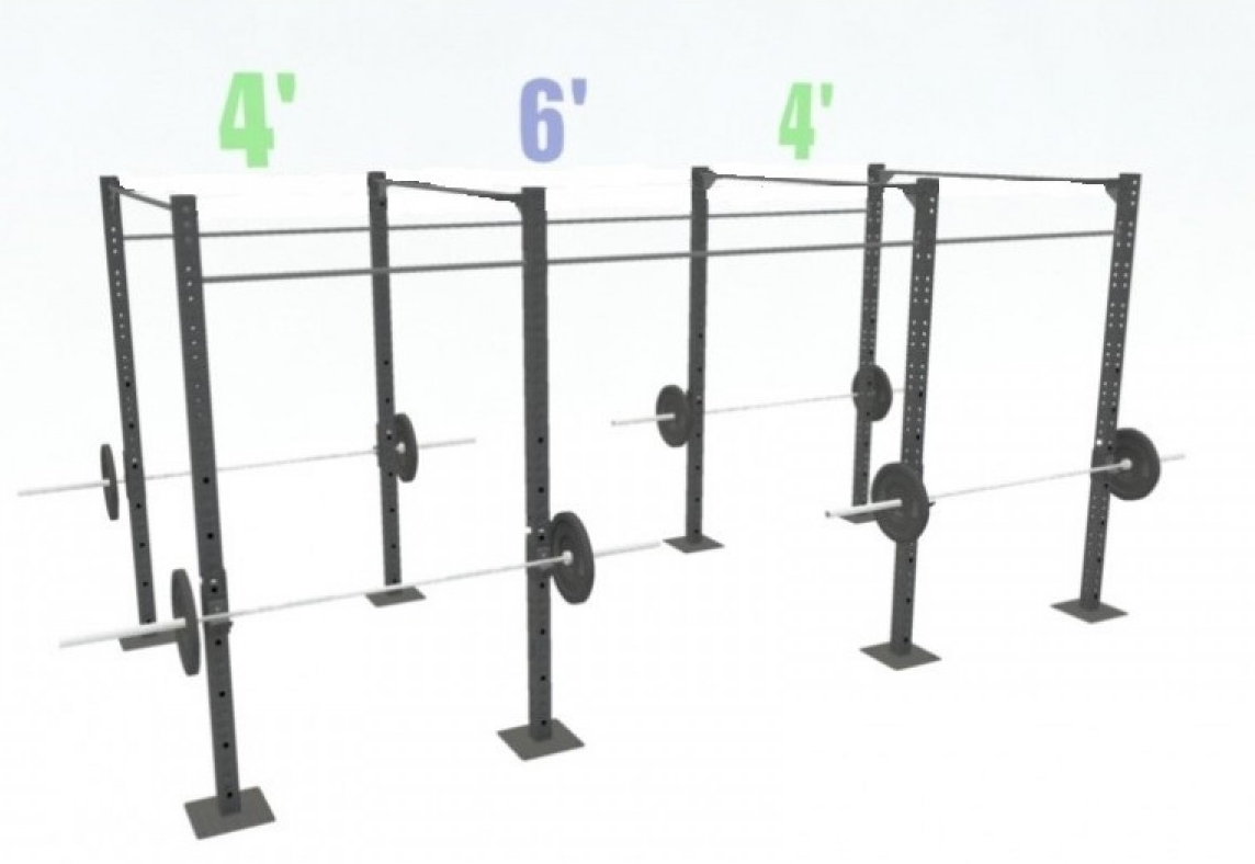 14' FREESTANDING BASIC SINGLE BARS