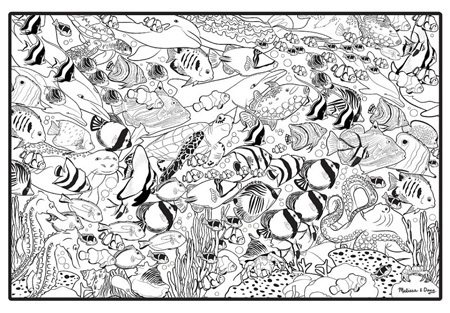 Jumbo Color-In Poster - Tropical Sea Life