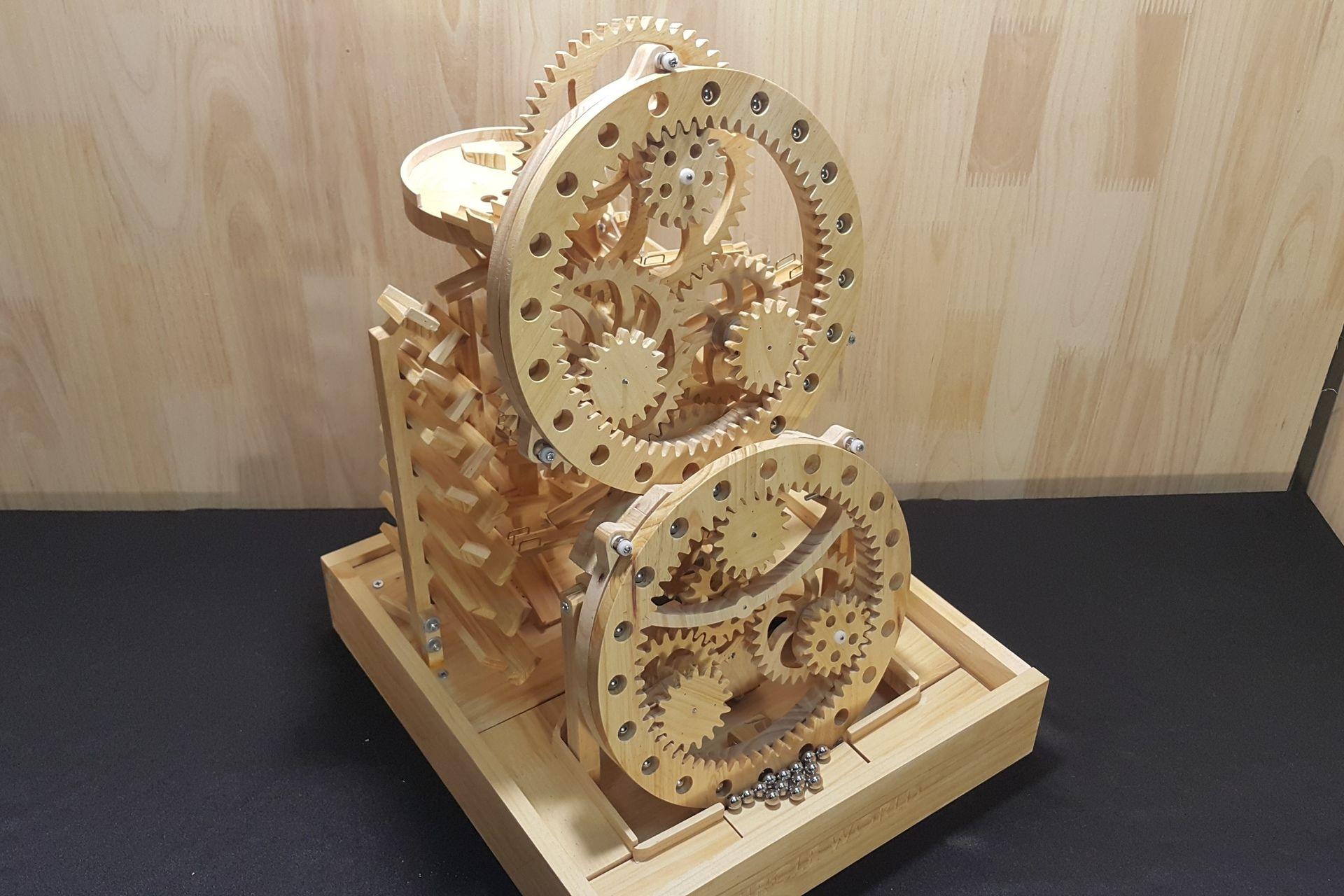 Wood Marble Machine